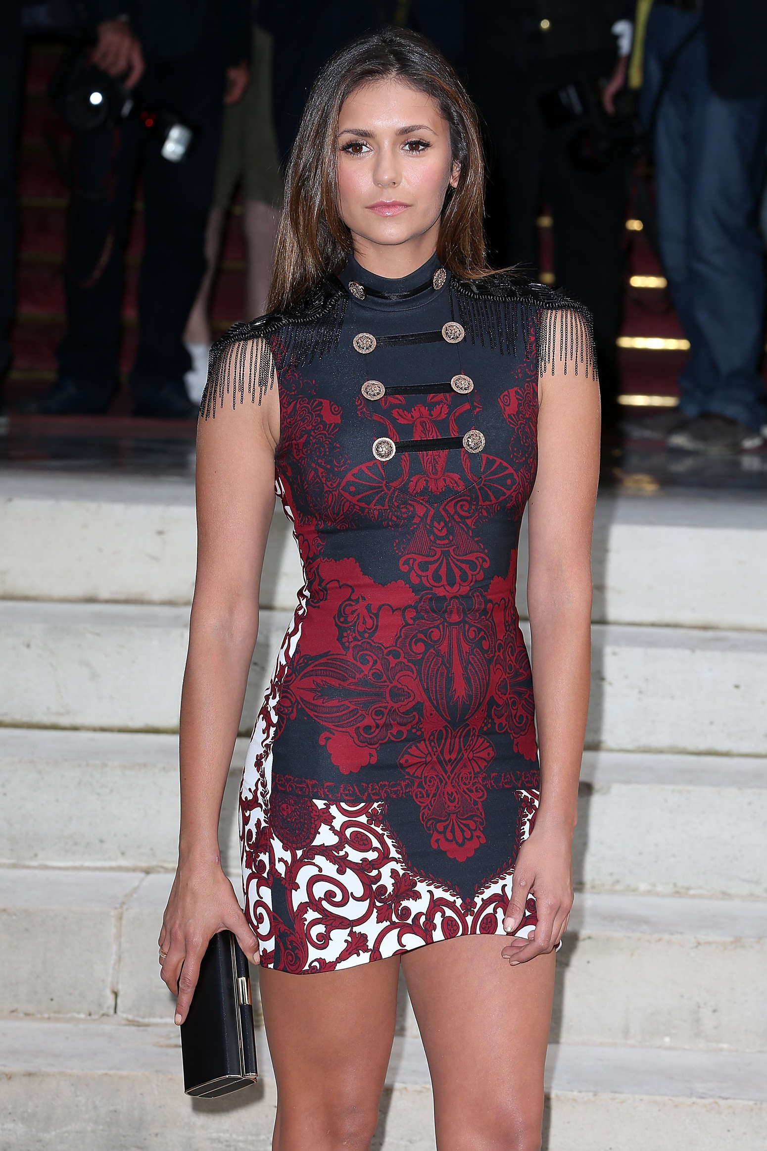 Nina Dobrev At Versace Fashion Show In Paris 06 Gotceleb