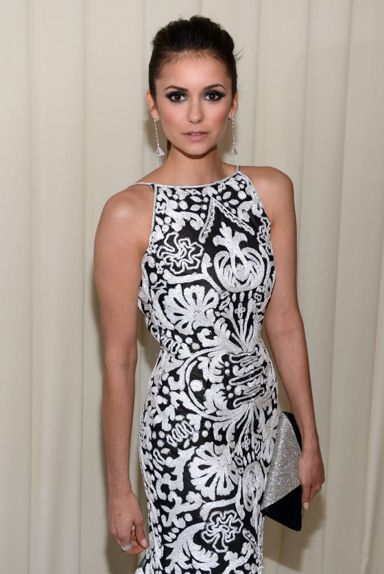 Nina Dobrev – 2013 Elton John AIDS Foundation Academy Awards Party -01