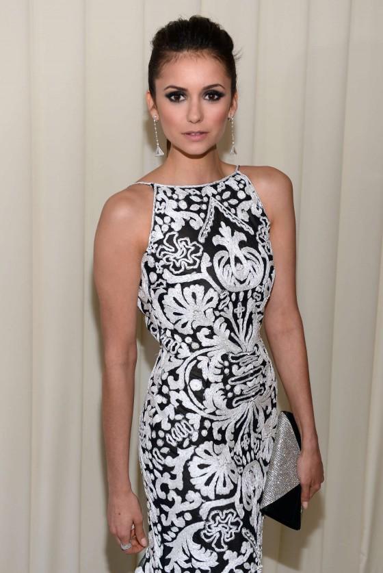 Nina Dobrev – 2013 Elton John AIDS Foundation Academy Awards Party -01