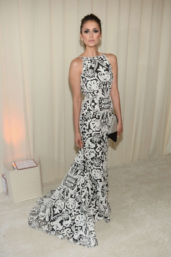 Nina Dobrev – 2013 Elton John AIDS Foundation Academy Awards Party -05