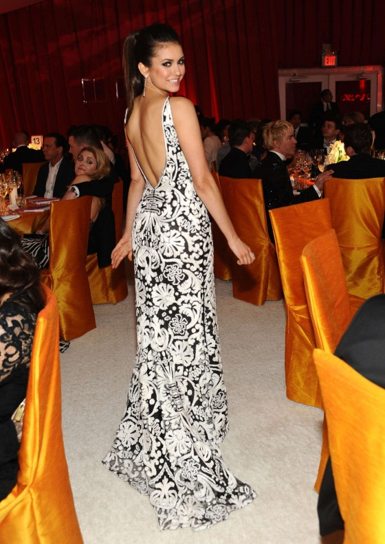Nina Dobrev – 2013 Elton John AIDS Foundation Academy Awards Party -12
