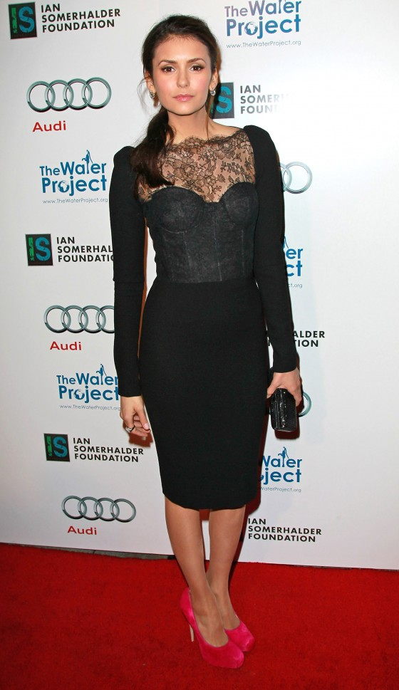 Nina Dobrev - Tight Dress at The Ripple Effect charity dinner in LA -01