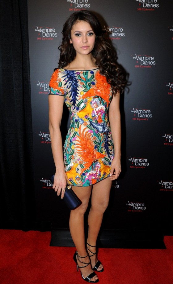 Nina Dobrev: The Vampire Diaries 100th Episode Celebration -03