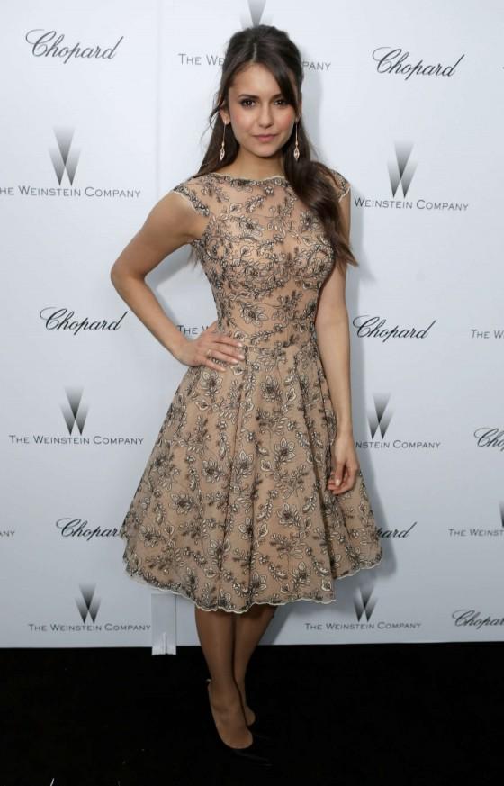 Nina Dobrev at The Weinstein Company Academy Award Party -03
