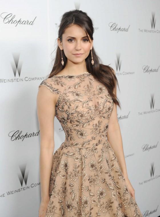 Nina Dobrev at The Weinstein Company Academy Award Party -04