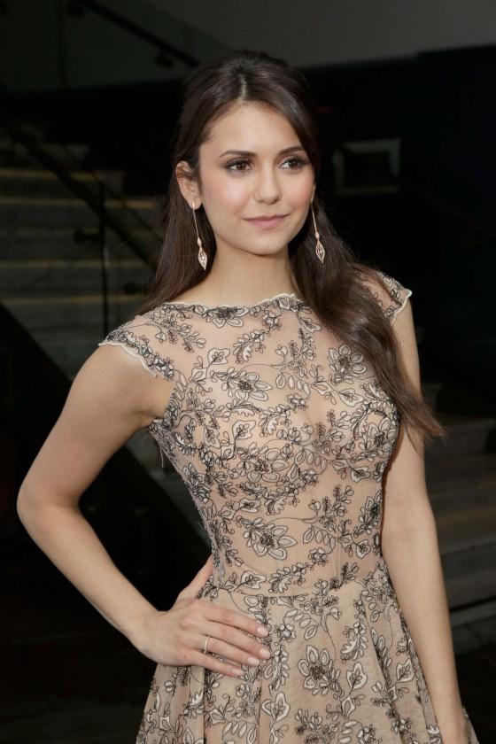 Nina Dobrev at The Weinstein Company Academy Award Party -05