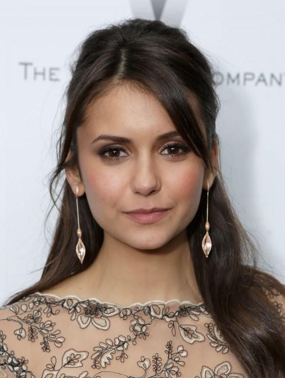 Nina Dobrev at The Weinstein Company Academy Award Party -06