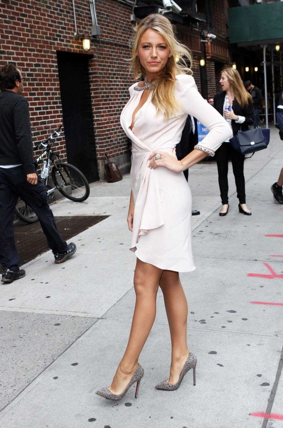 Blake Lively - at Late Show with David Letterman
