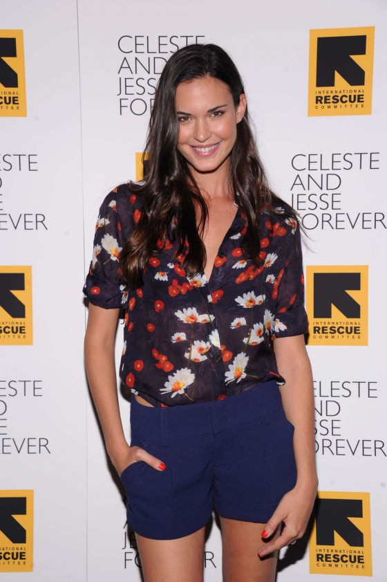 Odette Annable legs in shorts and boots at Celeste And Jesse Forever