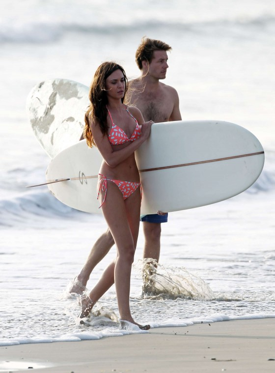 Odette Annable 2013 : Odette Annable bikini candids on the set of Westside-05