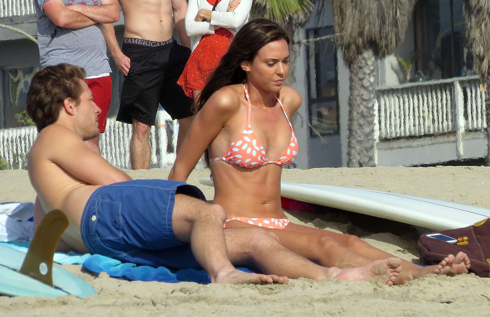 Odette Annable 2013 : Odette Annable bikini candids on the set of Westside-08