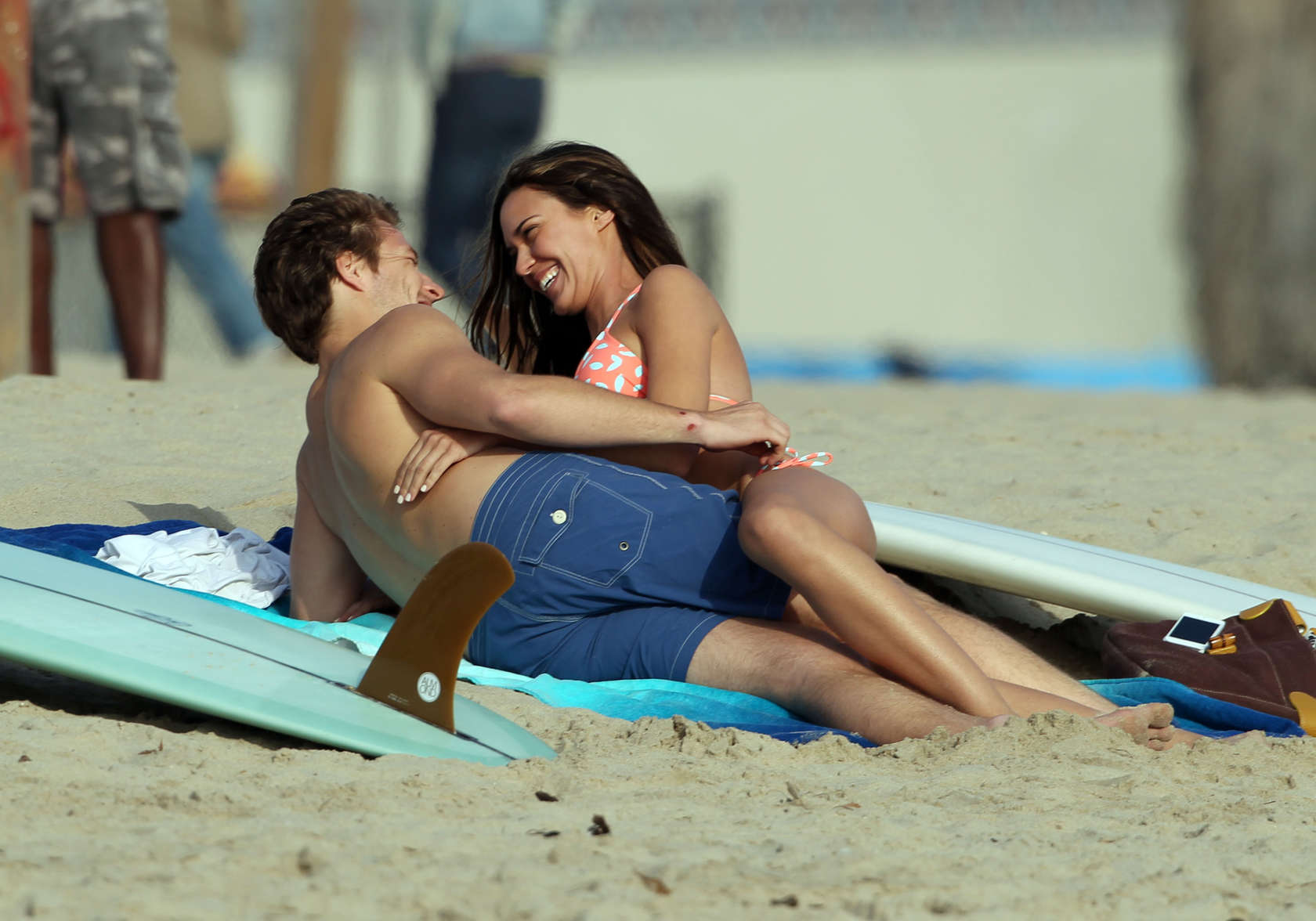 Odette Annable 2013 : Odette Annable bikini candids on the set of Westside-12