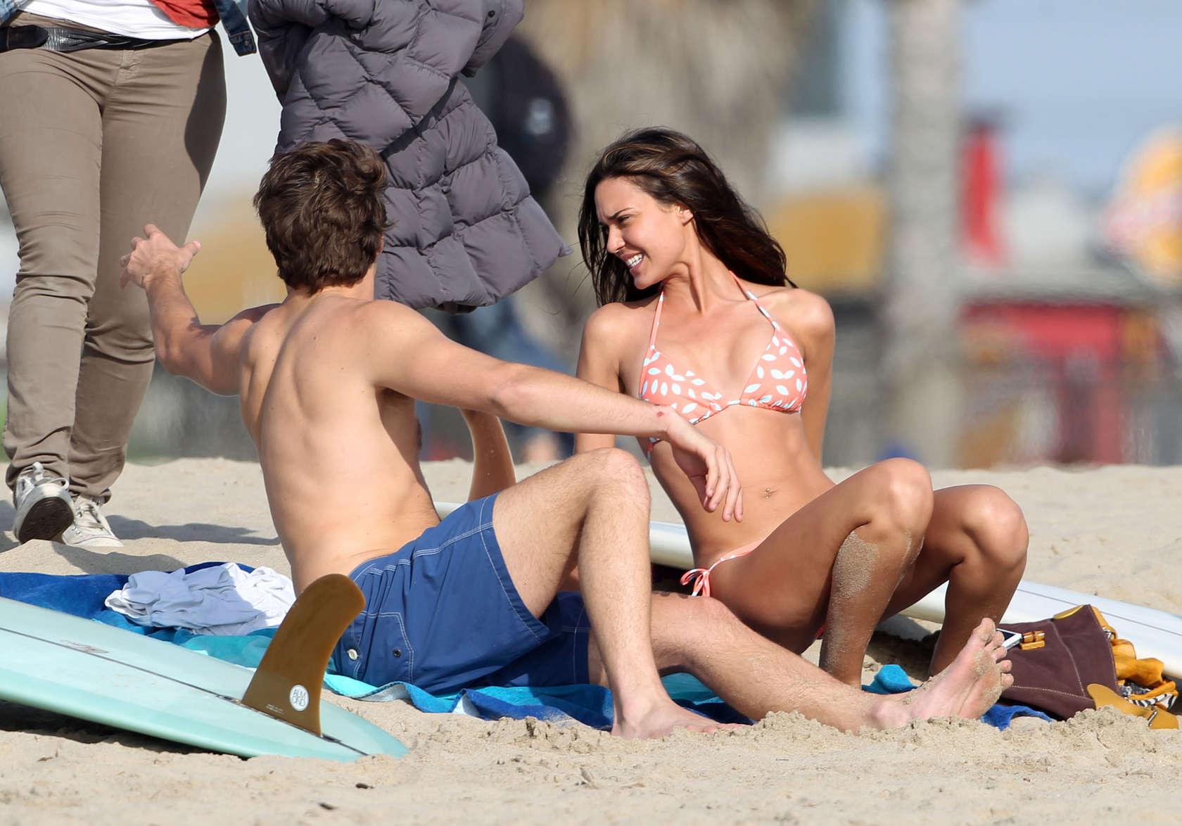 Odette Annable 2013 : Odette Annable bikini candids on the set of Westside-26