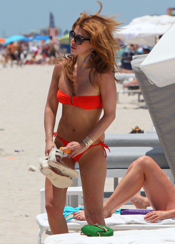 Olcay Gulsen - In Orange Bikini in Miami