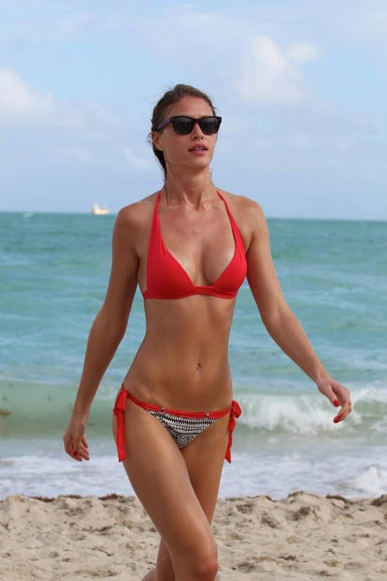 Olga Kent – Wearing Bikini on Miami Beach
