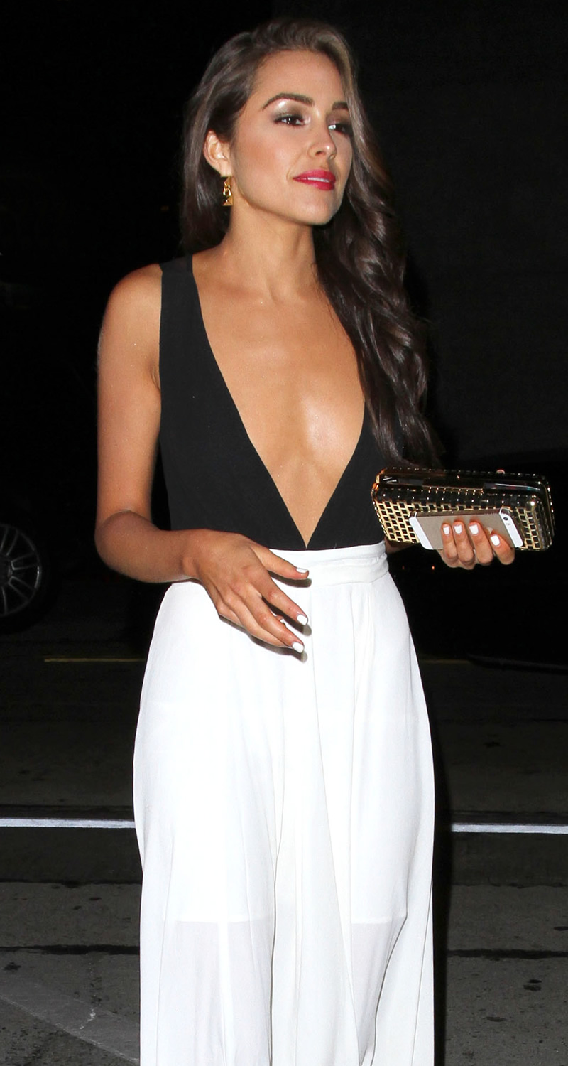 Olivia Culpo arriving for dinner at Craig's Restaurant in West Hollywood