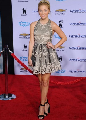 Olivia Holt - Captain America: The Winter Soldier Premiere -05