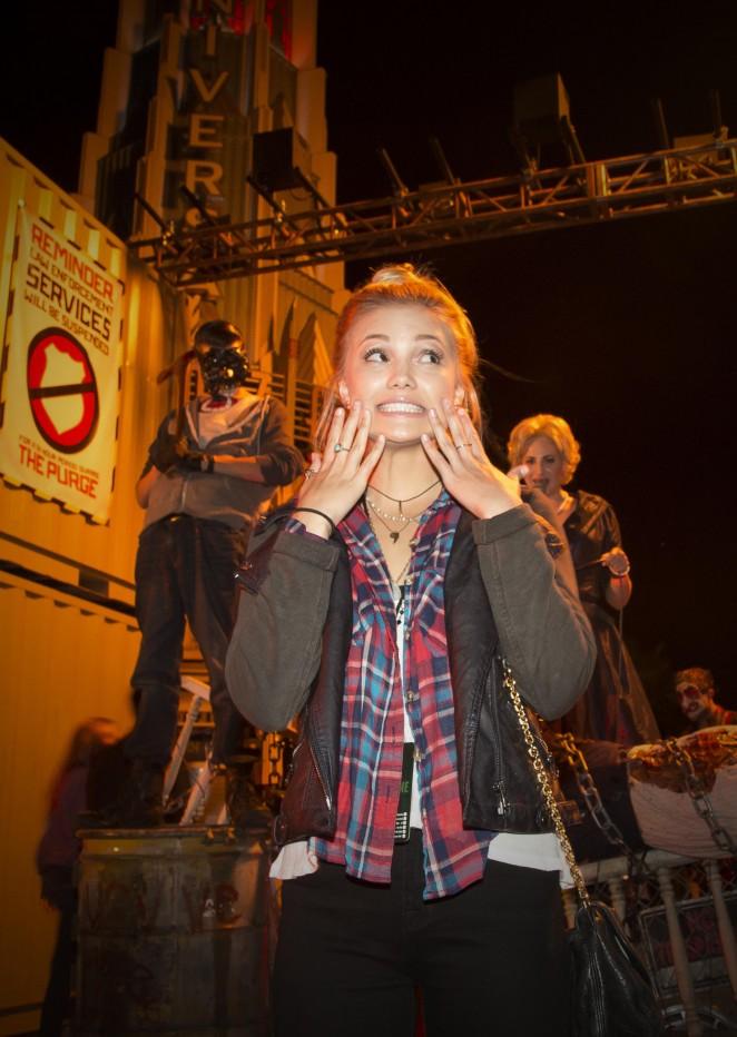 Olivia Holt – Halloween Horror Nights 2014 in Universal City