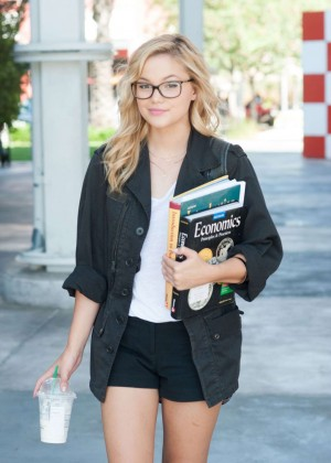 Olivia Holt in Shorts Out in Los Angeles