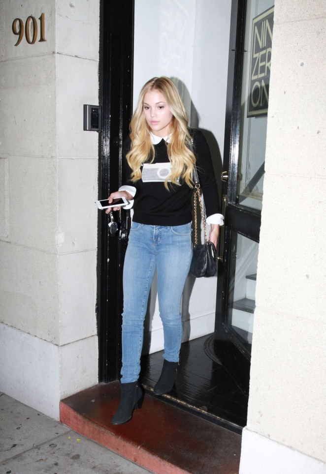 Olivia holt in jeans 12 gotceleb for 901 salon beverly hills