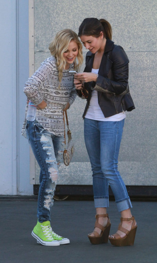 Olivia Holt in Ripped Jeans -05