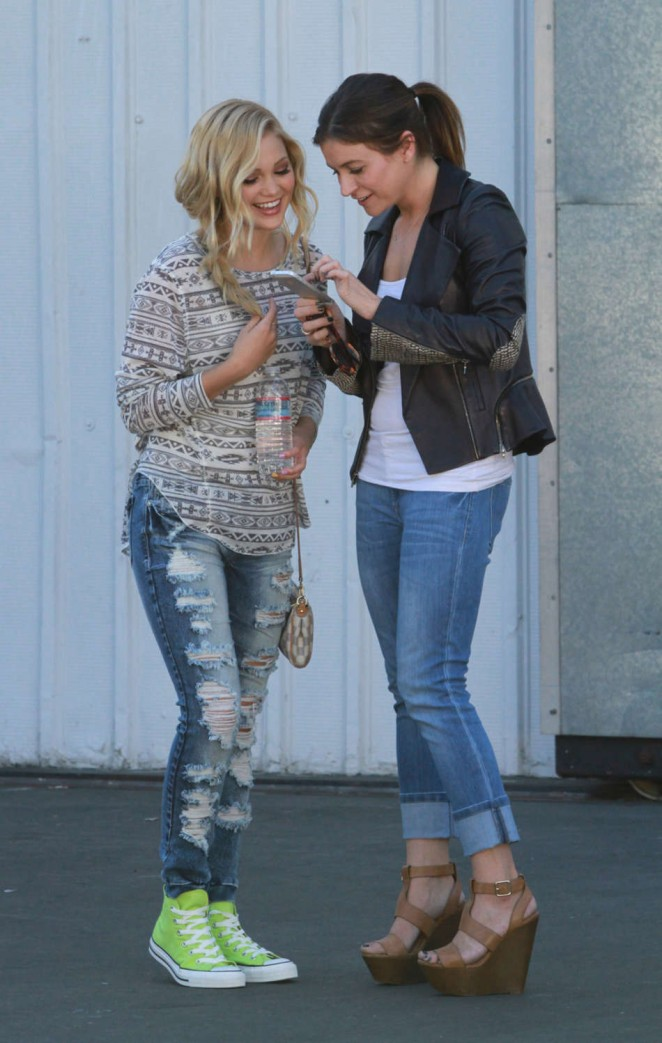 Olivia Holt in Ripped Jeans -09