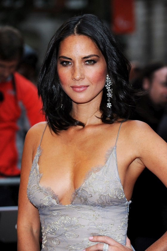Olivia Munn cleavage candids at GQ Men of the Year Awards