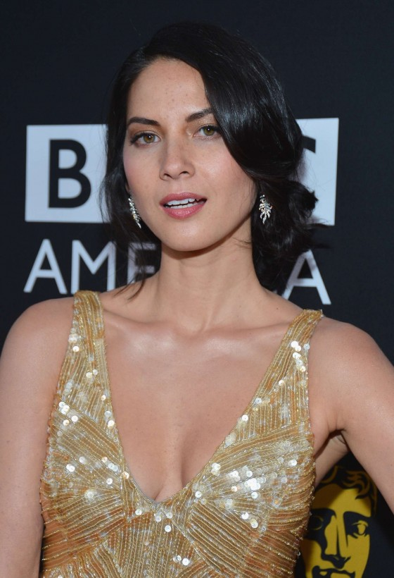 Olivia Munn showing her cleavage at 2012 BAFTA Los Angeles Britannia Awards