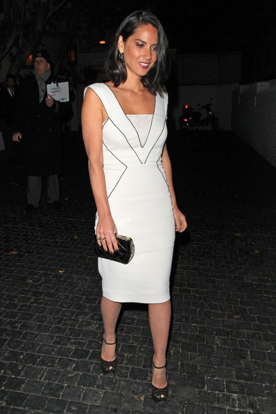 Olivia Munn leaving the Chateau Marmont in West Hollywood.JAN 10, 2013