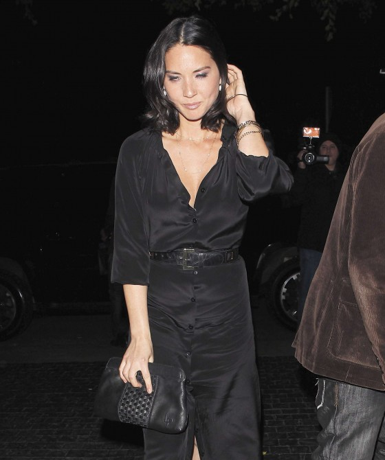 Olivia Munn cleavage in West Hollywood