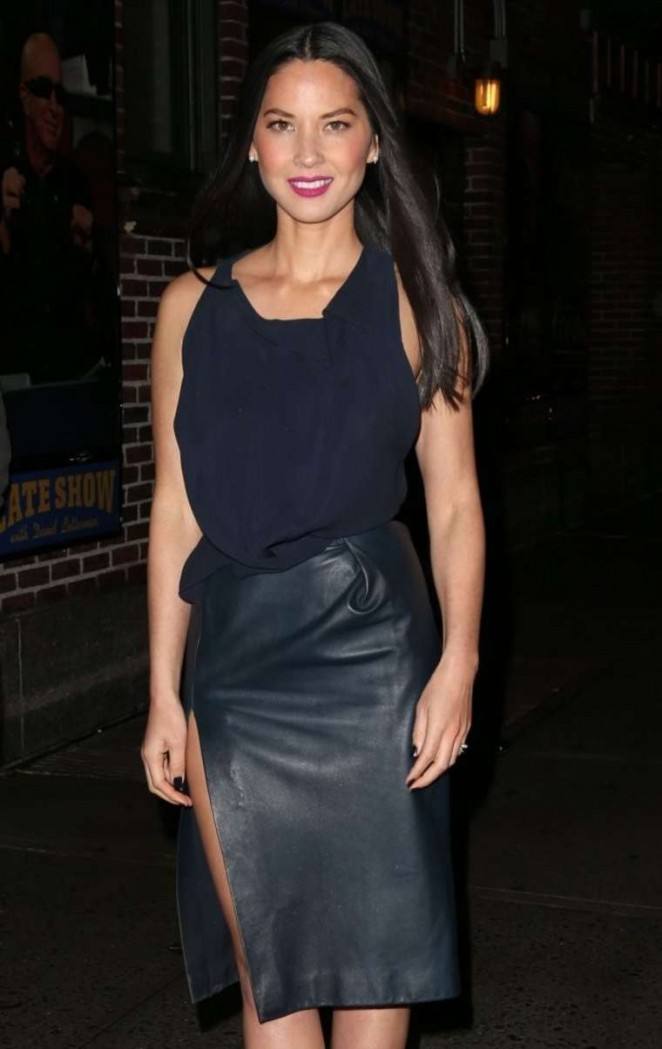 Olivia Munn: Late Show with David Letterman -01