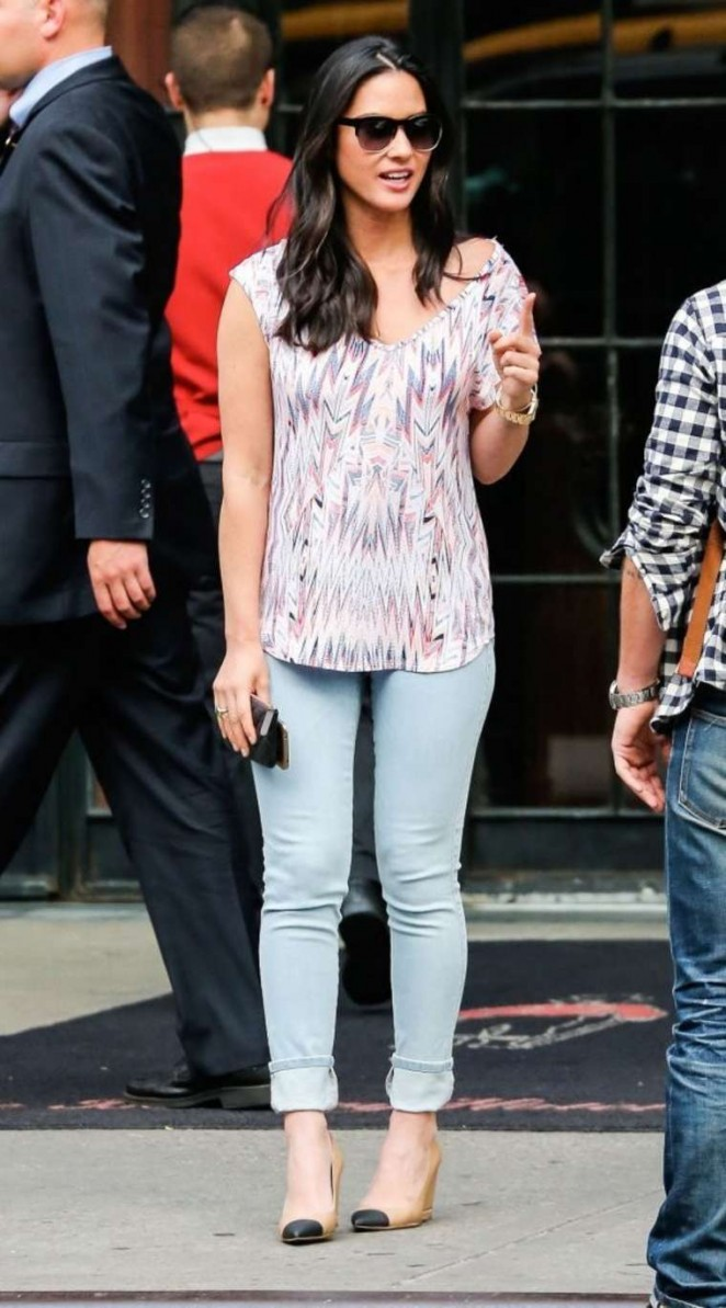 Olivia Munn in Tight Jeans Outside the Bowery Hotel in NYC