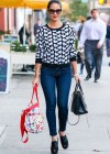 Olivia Munn in tight jeans shopping in New York City -01