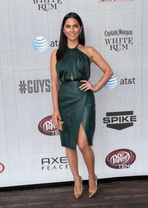 Olivia Munn: Green Dress Spike 2014 -03