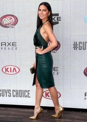 Olivia Munn: Green Dress Spike 2014 -04