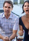 Olivia Munn Cleavage on The Babymakers Promo