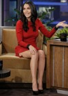 Olivia Munn - Hot In Short Red Mini Dress at The Tonight Show with Jay Leno