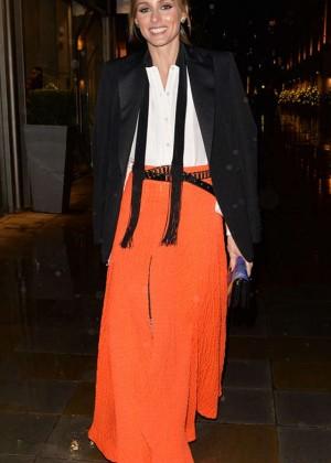 Olivia Palermo in Orange Skirt at Monika Vinade Party in London