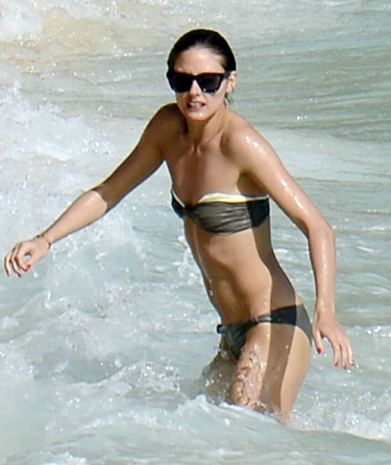 Olivia Palermo in bikini at the beach in St. Barts - 1/9/2013