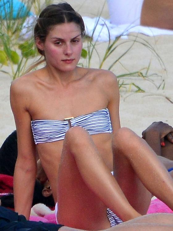 Olivia Palermo Bikini Photos: 2013 Beach in St Barts -07