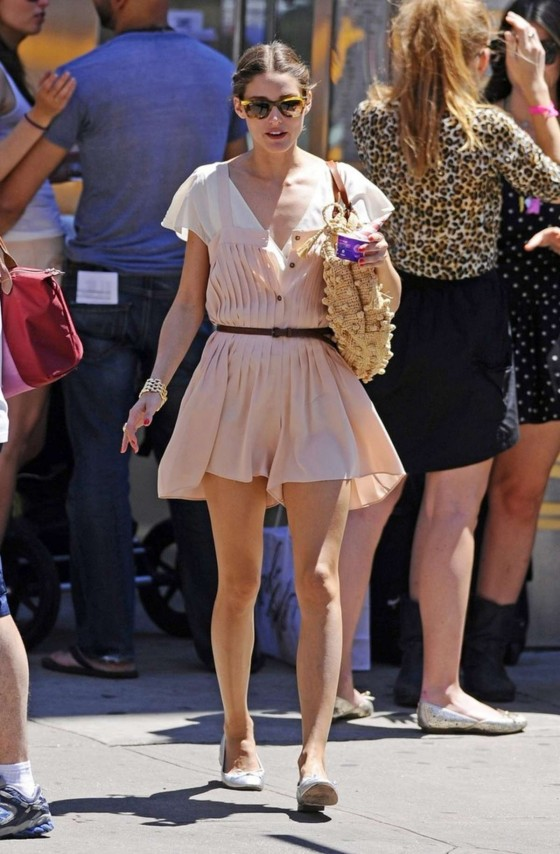 Olivia Palermo in a short dress