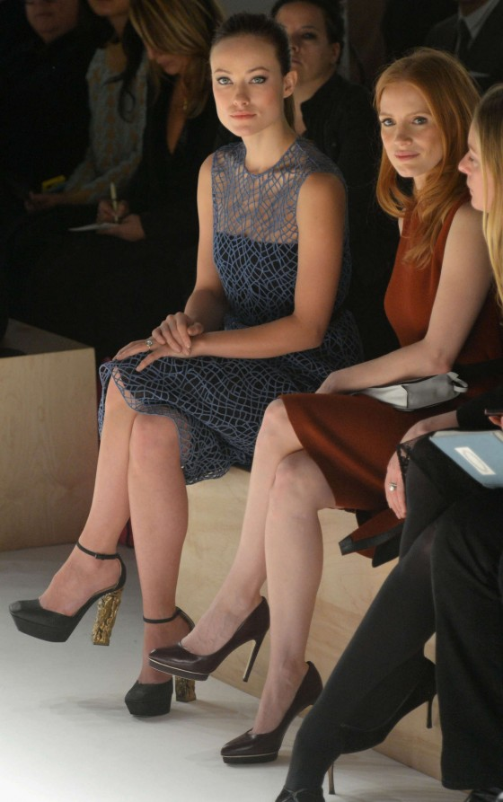 Olivia Wilde at 2013 Calvin Klein fashion show -04