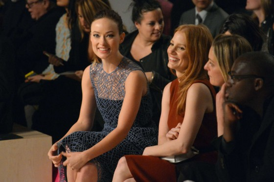 Olivia Wilde at 2013 Calvin Klein fashion show -14