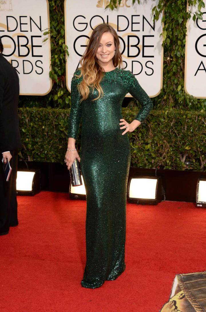 Olivia Wilde: Golden Globe 2014 Awards -01