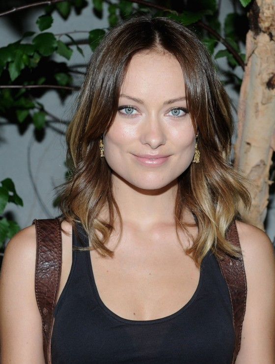 Olivia Wilde in black tight shirt in NY