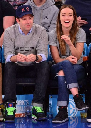 Olivia Wilde at the New York Knicks vs Charlotte Hornets Game at Madison Square Garden