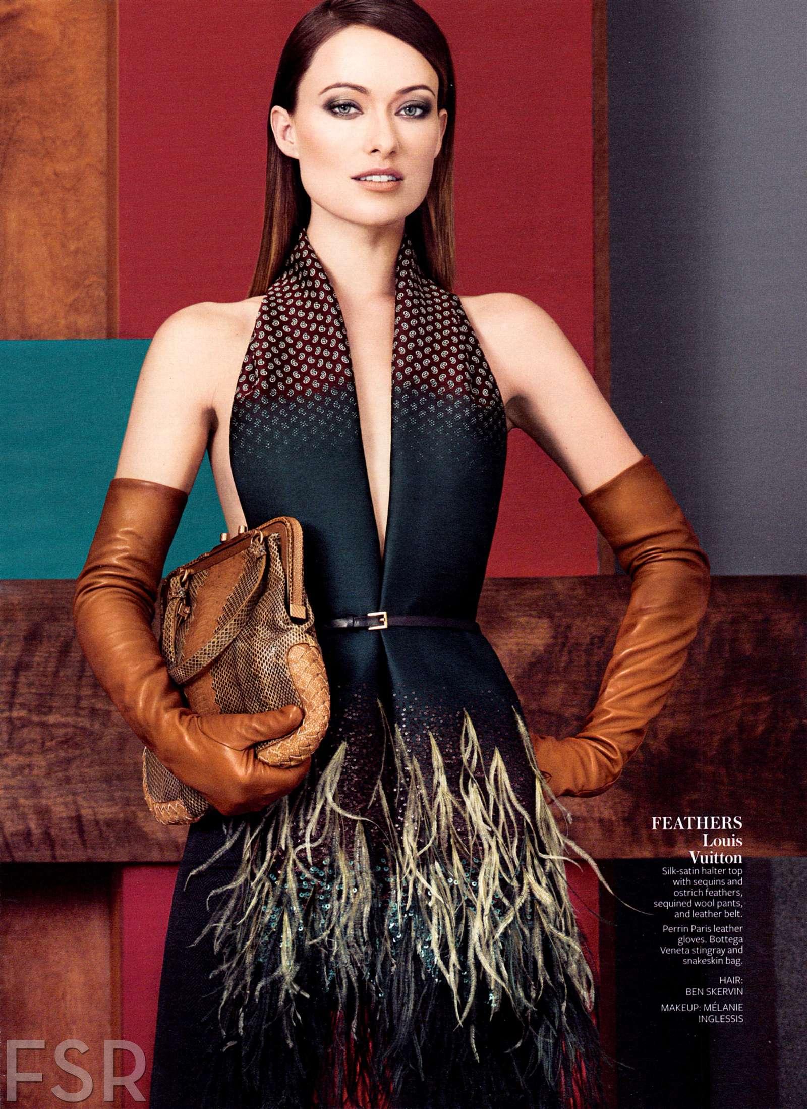 Olivia Wilde Instyle Magazine August 2013
