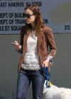 Olivia Wilde out walking her dog -21