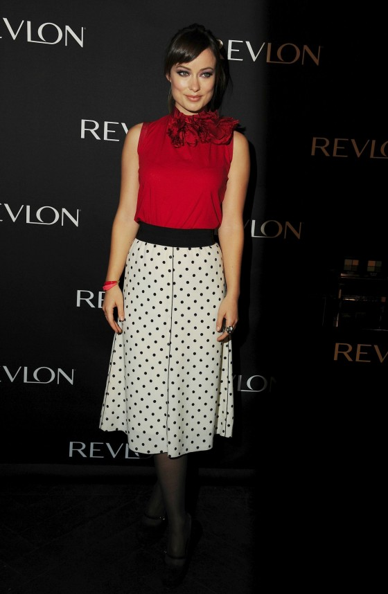 Olivia Wilde – Revlon Eye Products in NY