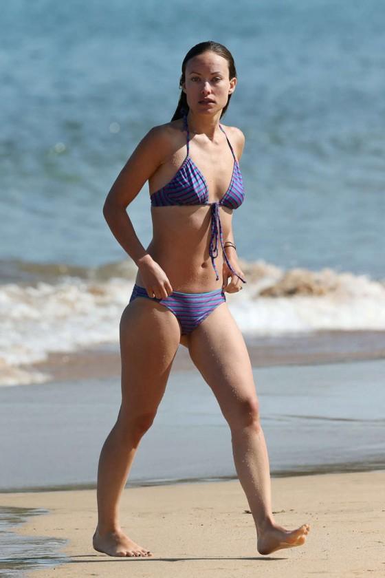 Olivia Wilde - Wearing a purple bikini on the beach in Maui -06